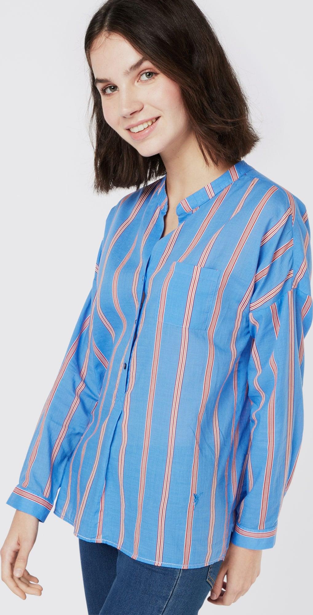 emily van den bergh bluse 39 stripes 39 in blau about you. Black Bedroom Furniture Sets. Home Design Ideas