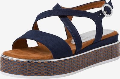 MARCO TOZZI Sandale in nachtblau / karamell, Produktansicht