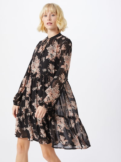VILA Kleid 'VITULLAN L/S FLOWER DRESS /RX' in schwarz, Modelansicht