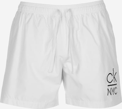 Calvin Klein Swimwear Badeshorts ' Medium Drawstring ' in weiß, Produktansicht