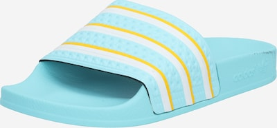 ADIDAS ORIGINALS Klapki w kolorze jasnoniebieski / żółty / białym, Podgląd produktu