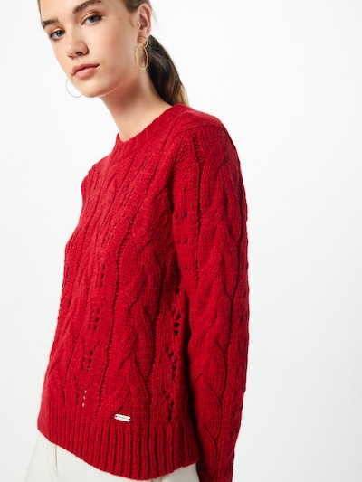 Pepe Jeans Strickpullover in rot, Modelansicht