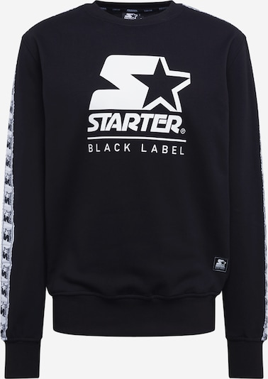 Starter Black Label Sweatshirt 'Starter Logo Taped Crewneck' in de kleur Zwart, Productweergave