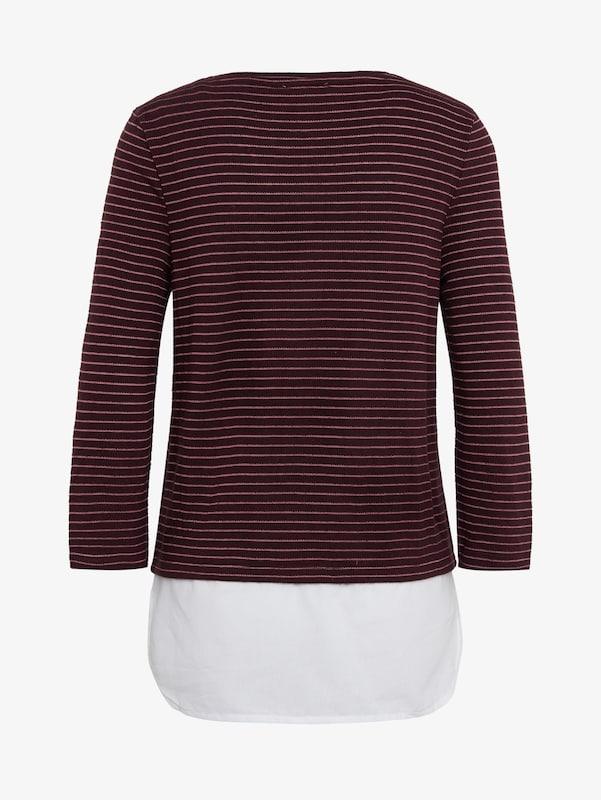 T Denim En BordeauxBlanc shirt Tom Tailor dsQCthr