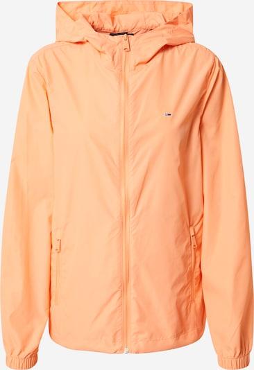 Tommy Jeans Veste mi-saison en orange, Vue avec produit