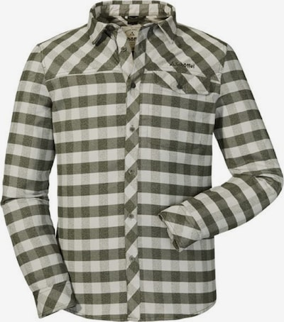 Schöffel Hemd 'Durban' in oliv / weiß, Produktansicht