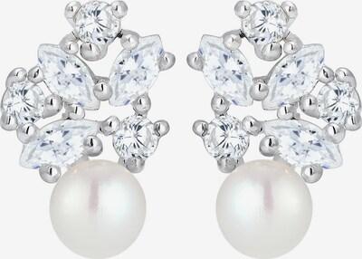 ELLI PREMIUM Ohrringe in silber / perlweiß, Produktansicht