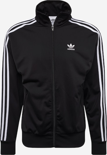 ADIDAS ORIGINALS Sweatvest 'Firebird' in de kleur Zwart / Wit, Productweergave