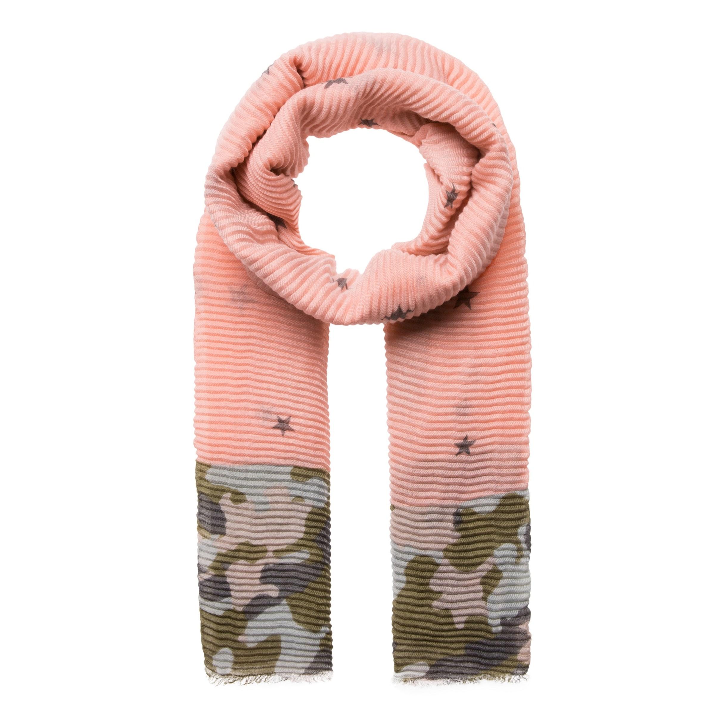 CODELLO Plissee-Schal mit Muster-Mix Große Diskont Günstig Online Großer Verkauf Günstiger Preis SeoIe