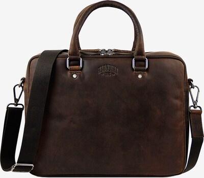 KLONDIKE 1896 Aktentasche 'Earl' in braun, Produktansicht
