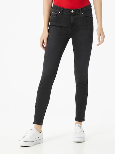 Tommy Jeans Jeans 'Nora' in black denim, Modelansicht