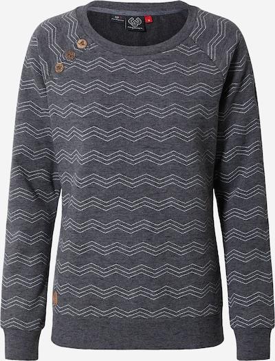 Ragwear Sweatshirt 'DARIA' in schwarz / weiß: Frontalansicht