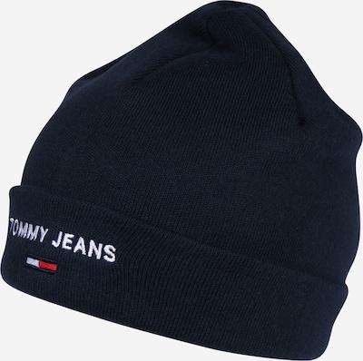 TOMMY HILFIGER Mütze 'SPORT BEANIE' in nachtblau / weiß, Produktansicht