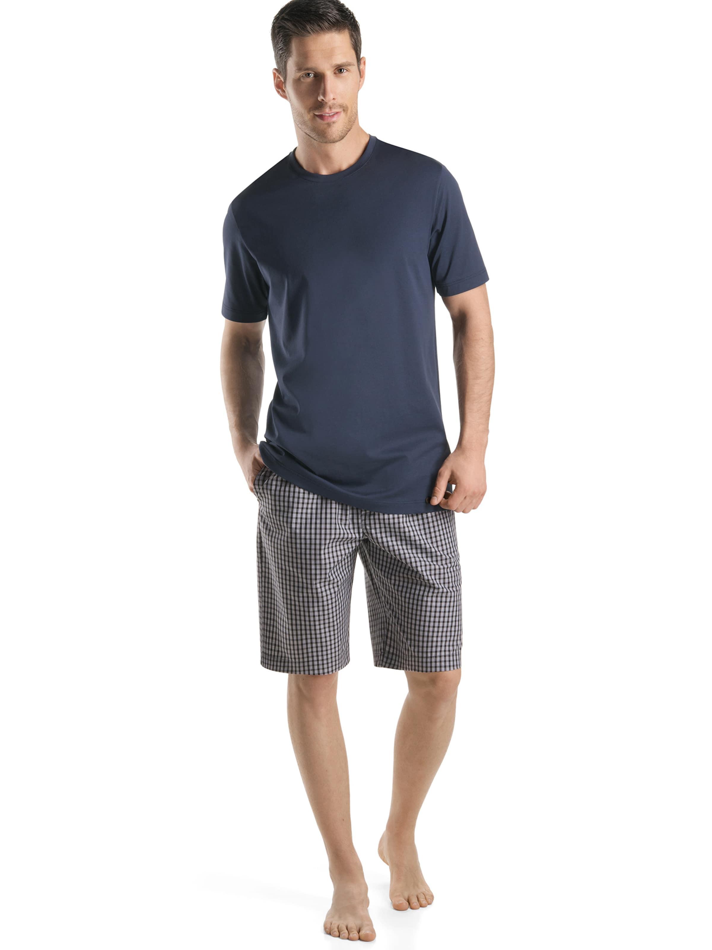 Hanro T-Shirt ' Day & Night ' in rauchblau Unifarben 45350