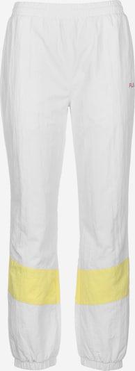 FILA Sportbroek 'Baka' in de kleur Geel / Wit, Productweergave