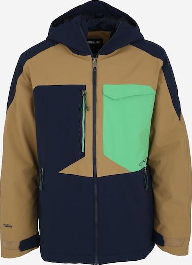 O'NEILL Outdoorová bunda 'Exile' - námořnická modř / světle hnědá / nefritová, Produkt