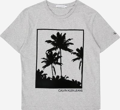 Calvin Klein Jeans Tričko 'PALM GRAPHIC' - světle šedá / černá: Pohled zepředu