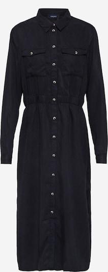 PIECES Blusenkleid 'PCNOLA' in black denim: Frontalansicht