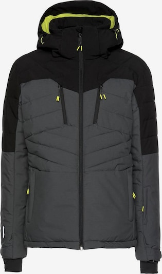 ICEPEAK Skijacke 'Clover' in grau / schwarz, Produktansicht