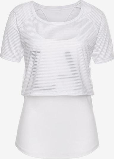 LASCANA ACTIVE Shirt 'Digital Mauve' in weiß, Produktansicht