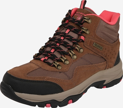 SKECHERS Boots 'TREGO BASE CAMP' en noisette / or rose / saumon / noir, Vue avec produit
