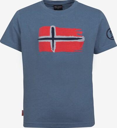 TROLLKIDS T-Shirt 'Oslo' in taubenblau / rot, Produktansicht