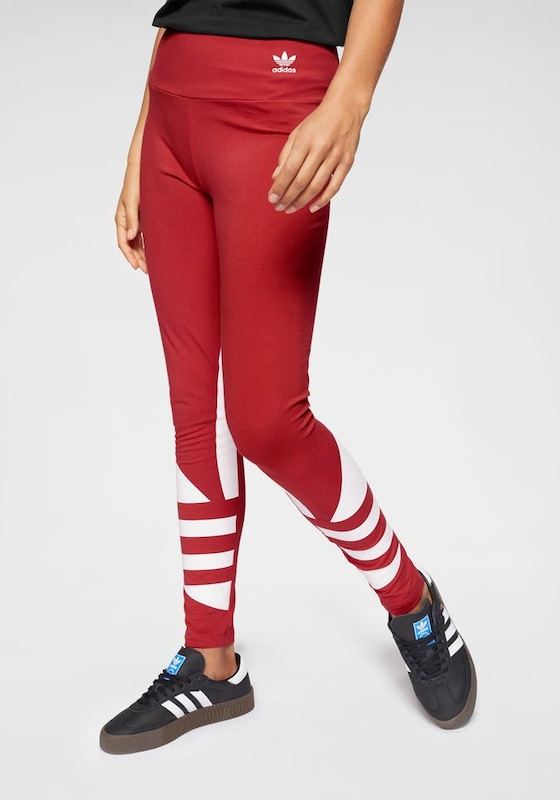 Leggings ADIDAS ORIGINALS pe roșu, Vizualizare model