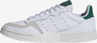 ADIDAS ORIGINALS Baskets basses 'Supercourt' en vert foncé / blanc, Vue avec produit