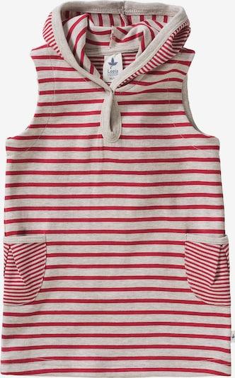 Leela COTTON Kleid in rot / weiß, Produktansicht