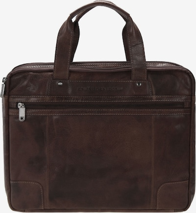 Spikes & Sparrow Bronco Business Handtasche Leder 36 cm in dunkelbraun, Produktansicht