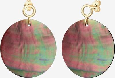 ELLI Boucles d'oreilles 'Perlmuttscheibe' en or / mélange de couleurs: Vue de face