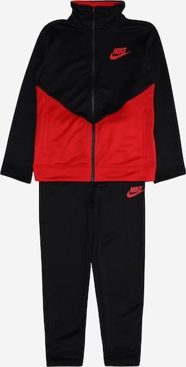 Nike Sportswear Jogginganzug in rot / schwarz, Produktansicht