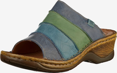 JOSEF SEIBEL Pantolette in hellblau / dunkelblau / hellgrün, Produktansicht