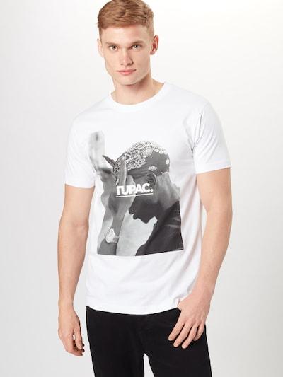 Mister Tee T-Shirt '2Pac F*ck The World' in schwarz / weiß: Frontalansicht