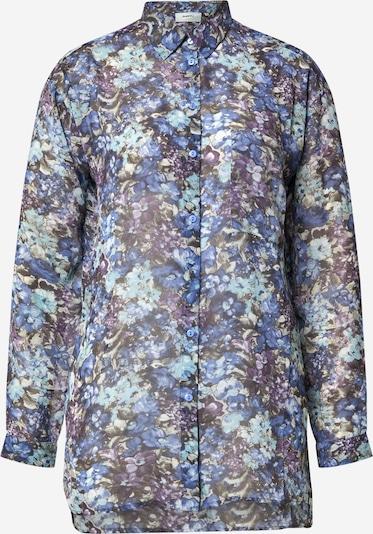Moves Blouse 'Saliha' in de kleur Blauw / Donkerblauw / Lila, Productweergave