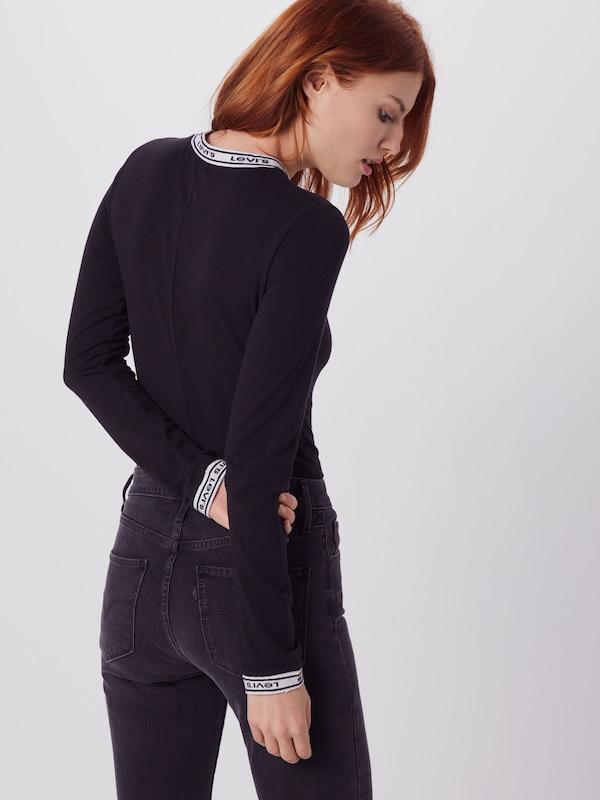 shirt 'ls Bodysuit' T Levi's En Noir lKJT1cF3