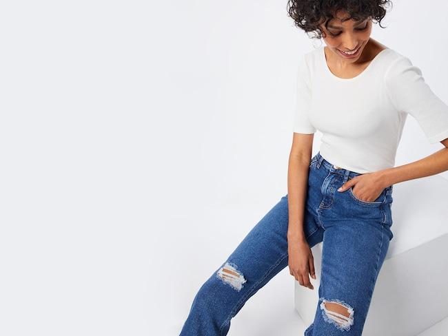 Woman in blue jeans