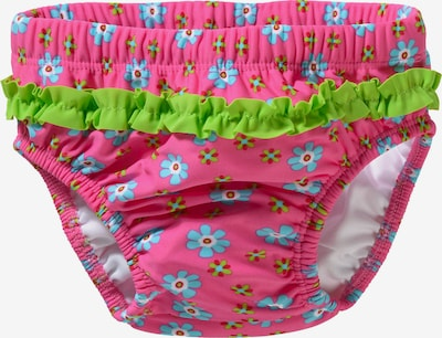 PLAYSHOES Windelbadehose in türkis / kiwi / pink, Produktansicht