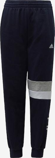ADIDAS PERFORMANCE Hose 'Linear Colorblock' in marine / graumeliert / weiß, Produktansicht