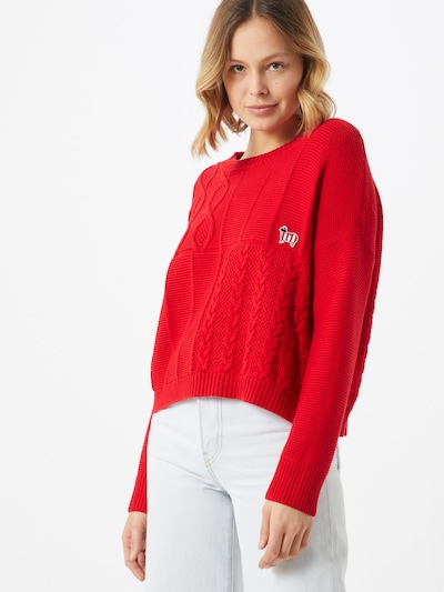 UNITED COLORS OF BENETTON Pullover in rot, Modelansicht