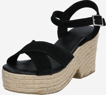 Superdry Sandale in Schwarz