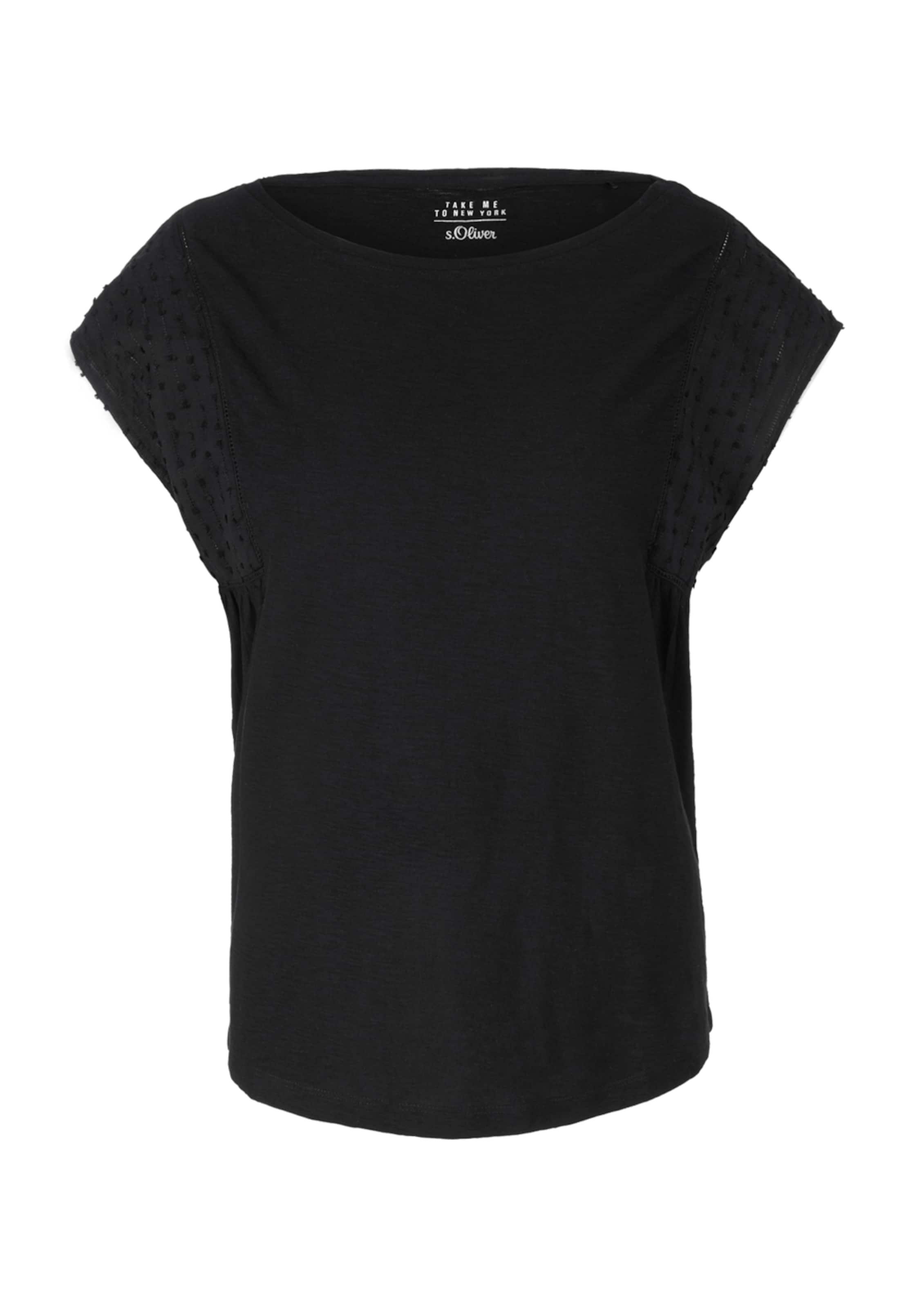 S Schwarz In Label Red oliver Shirt 8vwNm0nO