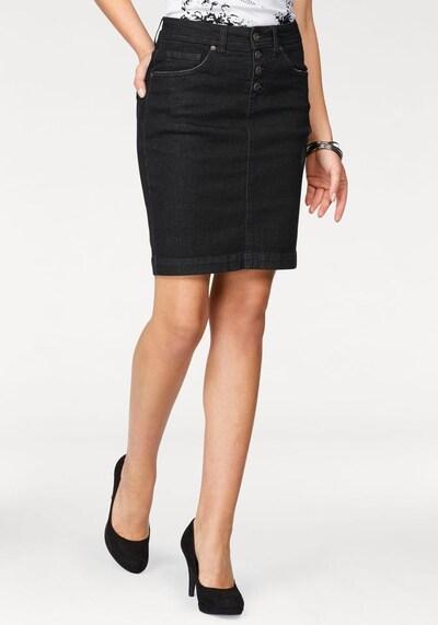 ARIZONA Jeansrock mit Knopfleiste in schwarz, Produktansicht