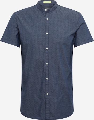 TOM TAILOR DENIM Hemd 'cotton jacquard shirt' in navy, Produktansicht