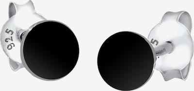 ELLI Ohrringe 'Geo, Kreis' in schwarz, Produktansicht
