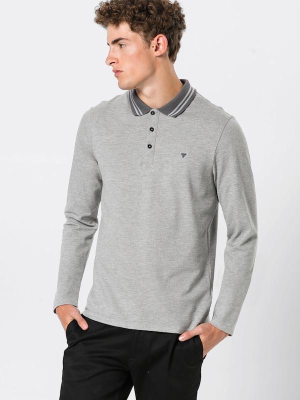 'damian En T Ls Polo' Guess shirt Gris OikZuXPT