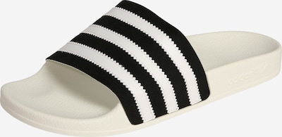 ADIDAS ORIGINALS Bade-Slider in schwarz / weiß, Produktansicht