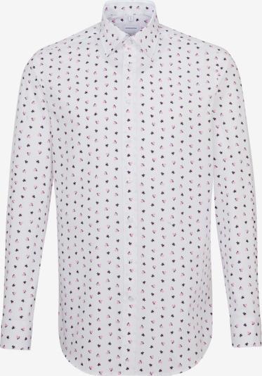 SEIDENSTICKER Business Hemd ' Regular ' in pink / schwarz / weiß: Frontalansicht