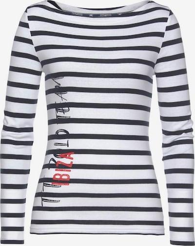 Tom Tailor Polo Team Langarmshirt in navy / weiß, Produktansicht