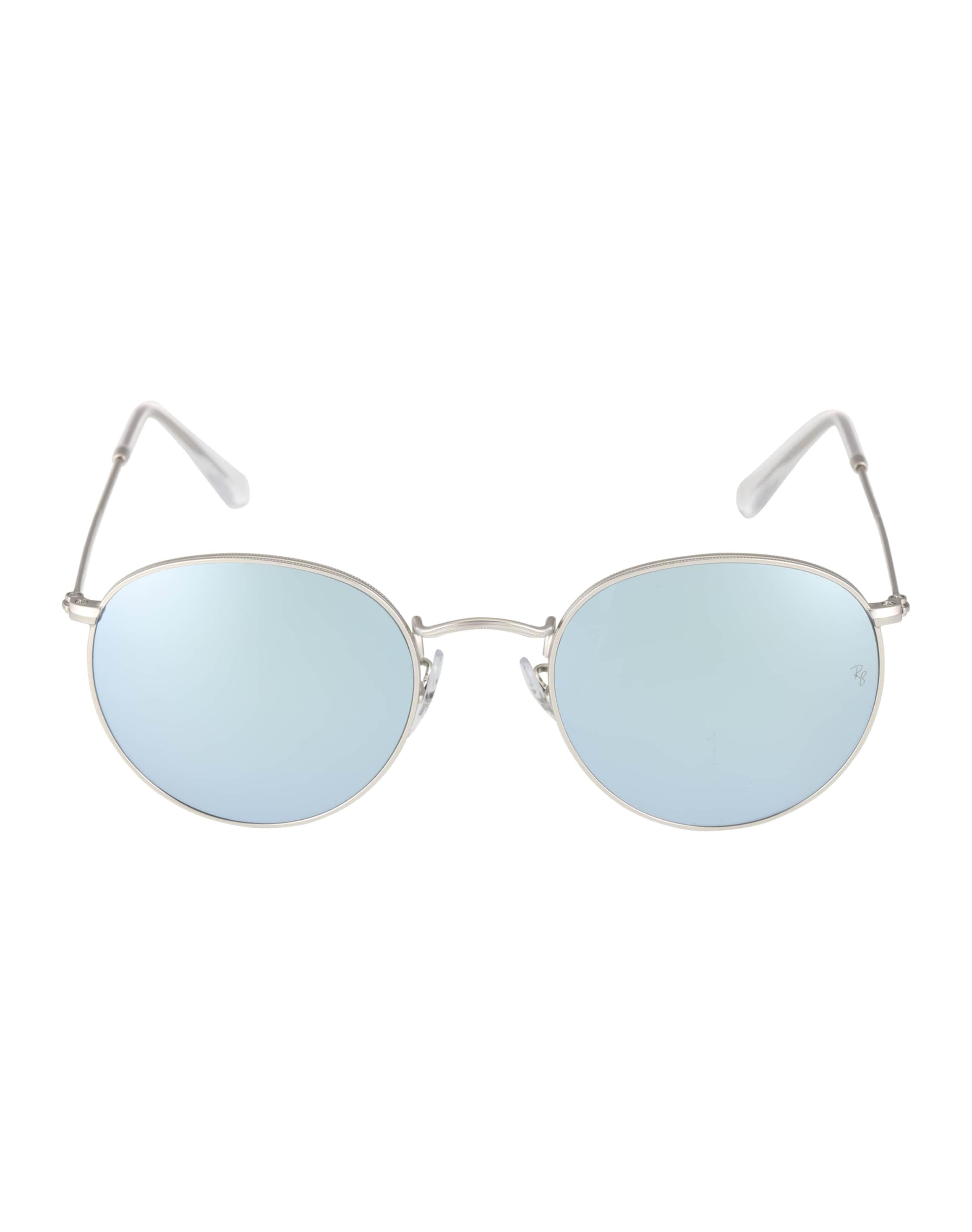 Ray-Ban Solglasögon 'Round metal' i ljusblå / silver